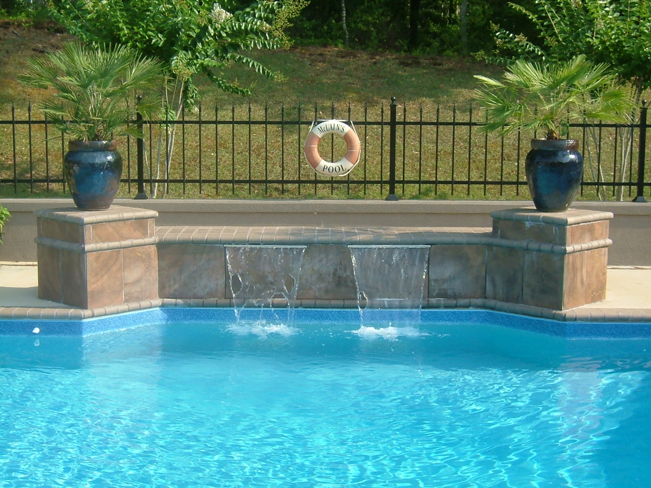 Waterfalls for Swimming pool waterfalls construction